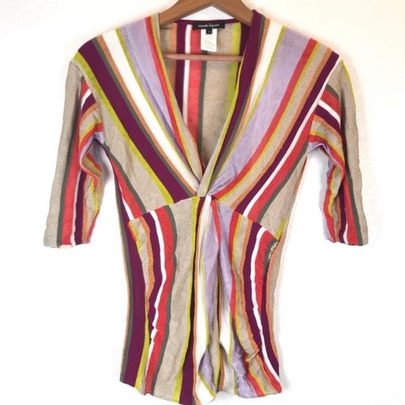 Nanette Lepore Tops - Nanette Lepore Multicolor Linen Blend Top